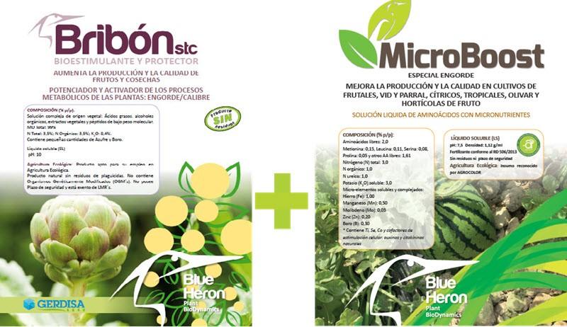Engorde de frutos: Bribón y MicroBoost